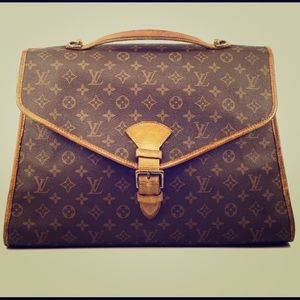 Auth Louis Vuitton Beverly Laptop Bag #4585L21